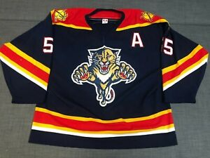 2005-2006 Florida Panthers Sean Hill Game Worn Jersey Home NHL Photomatch-Tag