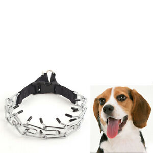Stainless Steel Pet Dog Prong Training Collar Metal Prong Pinch Adjustable Chain