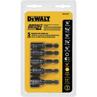 DEWALT 5 Pc Impact Ready Magnet Nut Driver Set DW2235IR New