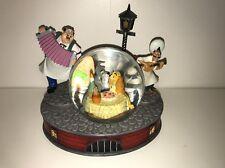 """Disney Lady and the Tramp Spaghetti Scene Snow Globe """"Bella Notte"""" Rare"""