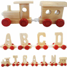 Wooden Name Train Personalised: Spell Name ABC Train A-Z Name Train - UK STOCK