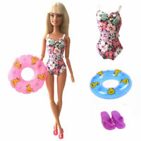 Barbie Doll Swimwear Bathing Clothes Bikini Swimsuit Slipper Swimming Buoy Kit
