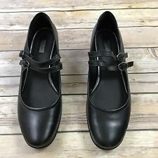 ECCO Pearl Mary Jane Shoes Black Leather Double Strap Women's Sz 8/8.5 39