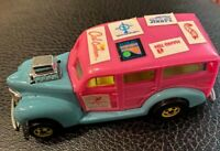 1979 Mattel Hot Wheels Cal Customs Pink/Blue 40's Ford Woodie Car WITH STICKERS