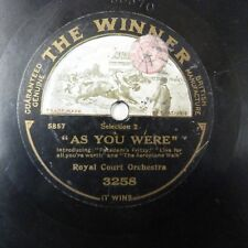 78rpm ROYAL COURT ORCHESTRA as you were , The Winner 3258