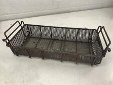 """8"""" x 17.5"""" x 3"""" D Wire Metal Parts / Dipping Stackable Basket, Used"""