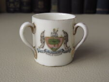 """Vintage Fairy Ware Austria - Crested China Miniature """"Loving Cup"""" Glasgow Crest"""