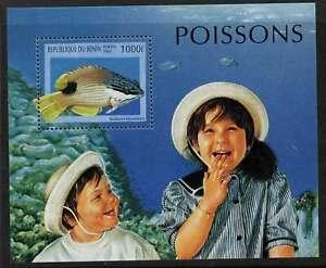 Benin 1053 MNH Fish, Children