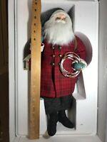 Hallmark Heritage Collection Woodsman Santa Figurine Christmas Decor