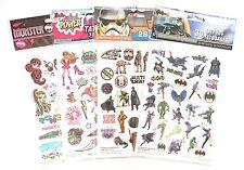 NEW 110 pcs Temporary Tattoos - Star Wars, Batman, Princess Power, Monster High