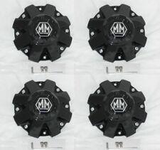 4 CAP DEAL MAYHEM GLOSS BLACK WHEEL RIM CENTER CAP C108040B01 W/ SCREWS INCLUDED