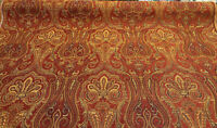Clubroom Paisley Crimson Pk Lifestyles Chenille Upholstery Fabric By The Yard