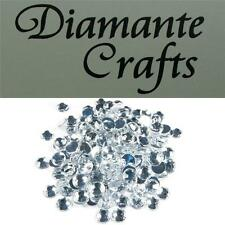 200 x 7mm Clear Diamante Round Loose Flat Back Rhinestone Vajazzle Body Gems