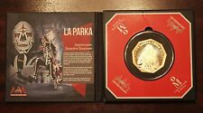 Mexico AAA Wrestling Trimetallic Medal, PARKA, original display, proof.