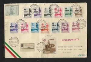 SOMALIA TO ITALY KING VISIT ISSUE ON AIRMAIL COVER 1935 CERTIFICATE