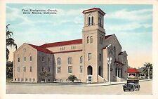 Santa Monica California First Presbyterian Church Antique Postcard (J32682)
