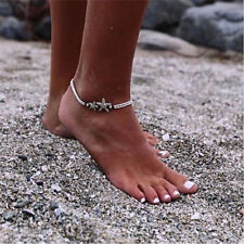 Summer Women Fashion Jewelry Silver Beads Boho Starfish Bangle Ankle Bracelet