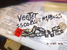 VEEJET S.S CO. BSPT H1/8USS Nozzle Head Lot of 10