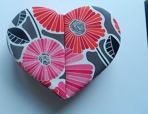 Vera Bradley Cherry Blossoms Heart to Heart Jewelry Case- floral red gray white
