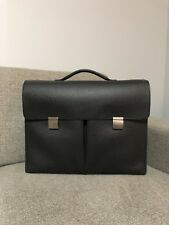 Authentic LOUIS VUITTON Khazan Hand Briefcase in Taiga Leather