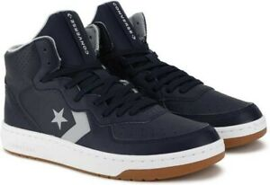 NEW Converse Rival Leather Mid Top Unisex Sz Shoe Obsidian/Wolf Grey/Wht 166084C
