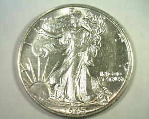 1945-S WALKING LIBERTY HALF DOLLAR CHOICE ABOUT UNCIRCULATED CH. AU NICE COIN