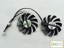 75mm MSI GTX 460 580 R6870 R6950 Twin Frozr II Dual Cooler Fan PLD08010S12HH