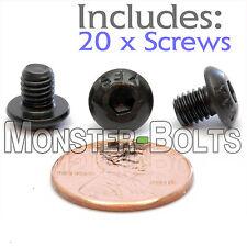 "#10-32 x 1/4"" - Qty 20 - BUTTON HEAD Socket Cap Screws - Alloy Steel Black Oxide"