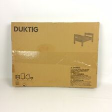 Ikea Duktig Doll Bed Linens Pine Wood Pretend Play New