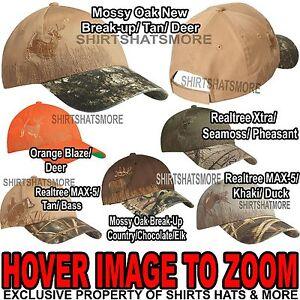 Embroidered Wildlife Camo Baseball Cap Hunting Hat Mossy Oak Realtree Xtra Max 5