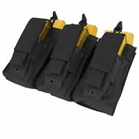 Condor Black MA55 MOLLE Triple 5.56 .223 Kangaroo Rifle Magazine Pouch Holster