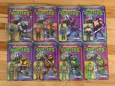 Super 7 ReAction TMNT Set Of 8 Wave 1 & 2 Teenage Mutant Ninja Turtles Foot Clan