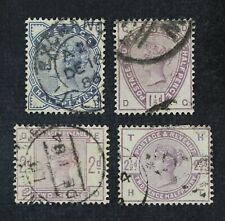 CKStamps: Great Britain Stamps Collection Scott#98-101 Victoria Used