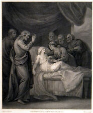 RAISING OF JAIRUS'S DAUGHTER 1795 Thomson - John Hoppner ANTIQUE ETCHING