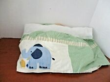 Tiddliwinks~Safari Baby Nursery Crib Dust Ruffle Skirt~Lion Elephant