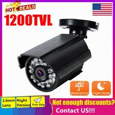 Outdoor Waterproof HD CMOS Color 1200TVL IR-CUT CCTV Security Camera NTSC US