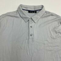 Apt. 9 Polo Shirt Men's Size 2XL XXL Short Sleeve Gray Casual 100% Cotton