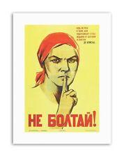 WW2 SOVIET UNION GOSSIP Poster Vintage Advertising Retro Military Canvas art