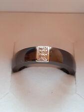 Bague céramique or blanc 750 18 carats diamants Jeell
