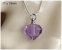 Crystal Ashes Urn Necklace - Diamond Heart Cremation Jewellery Keepsake Pendant