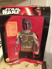 Rubies Men Disney Star Wars Boba Fett Costume w Top Cape Mask XL 40-42 Brand New