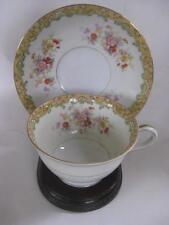 Occupied Japan Kingswood China ARAGON floral HTF Footed Cup & Saucer