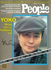 YOKO ONO NICE SIGNED JANUARY 1981 PEOPLE MAGAZINE COVER JOHN LENNON BEATLES