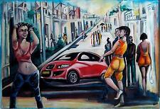 Original Art Painting Canvas Cuban Artist Cuba  EMILIO SANCHEZ 7