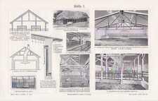 Stall Ställe Landwirtschaft Tierhaltung Tafel von 1910 Kuhstall Schafstall