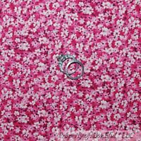 BonEful FABRIC FQ Cotton Quilt Pink Hot Light Small Floral Little Flower Calico