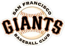 "San Francisco Giants MLB Baseball bumper sticker decor vinyl decal, 5""x 3.5"""