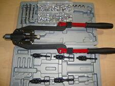 RIVNUT TOOL + RIVETTER LONG ARM M4 - M10 Incl Asstd Box of Aluminium Nutserts