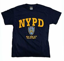 NYPD Men's Short Sleeve Front Yellow Print T-Shirt