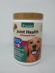 NaturVet Joint Health Level 3 Advanced Care for Dogs 180 Chews. Exp 06/23, #4647